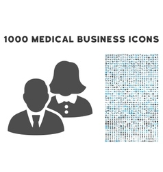 People Icon with 1000 Medical Business Symbols vector image