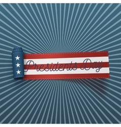 Presidents Day big realistic American Flag Ribbon vector