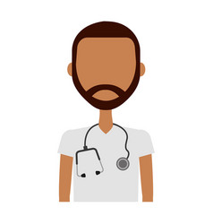professional doctor avatar character vector image