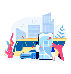 public city transport people and urban bus vector image
