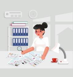 recruitment worker businesswoman hire personnel vector image