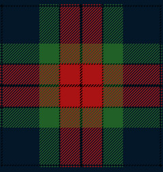Red green and blue tartan plaid pattern vector