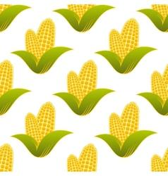 Seamless pattern of fresh corns vector