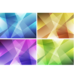 set of abstract modern background green yellow vector image