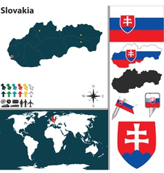Slovakia map world vector image