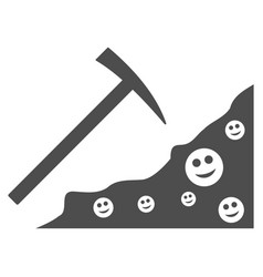Smile mining flat icon vector