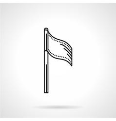 Sport flag black line icon vector