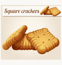 square crackers cookies cartoon vector image