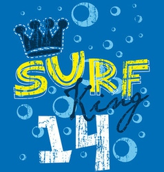 surf king vector image