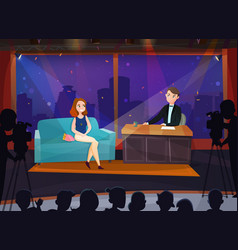 talk show vector image