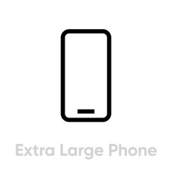 tech specs extra large phone icon editable line vector image