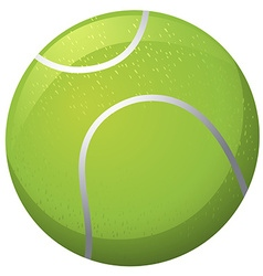 Tennis ball on white background vector