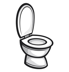 Toilet seat vector image