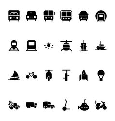 Transport Hand Drawn Doodle Icons 1 vector image