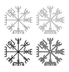 vegvisir runic compass galdrastav navigation vector image