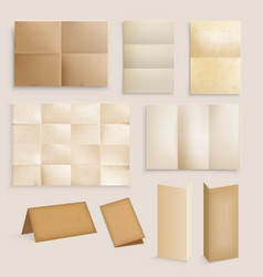 Vintage paper realistic collection vector