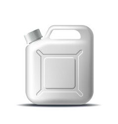 white plastic jerrycan oil isolated on white vector image