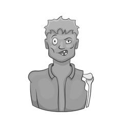 Zombie icon black monochrome style vector image
