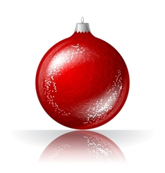 beautiful red christmas ball vector image vector image