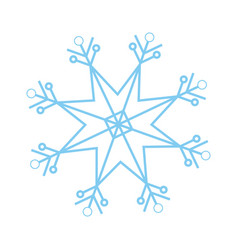 christmas snowflake snow winter element vector image