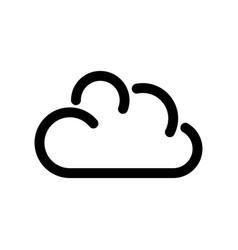 cloud icon symbol of online storage outline vector image vector image
