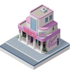 Isometric nightclub building vector