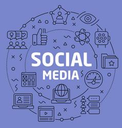 linear social media vector image