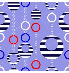 pattern with marine beads vector image vector image