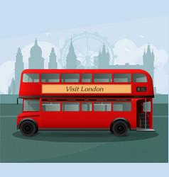realistic london double decker bus vector image