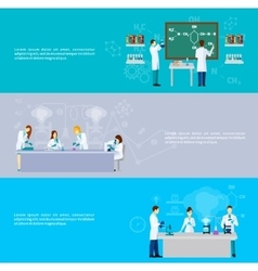 Scientist Banner Set vector image
