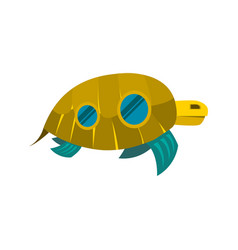 Sea turtle toy with windows icon vector