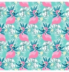 Tropical flamingo seamless vector image