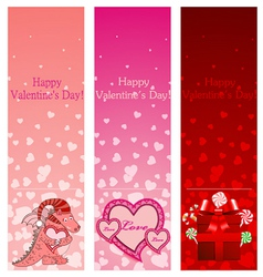 Valentine day vertical banners vector image