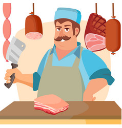 butcher character classic professional vector image
