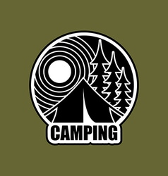 Camping logo Emblem for accommodation camp vector image vector image