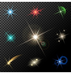 lights stars and sparkles vector image
