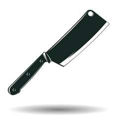 monochrome knife sign vector image