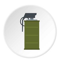 Smoke grenade icon circle vector