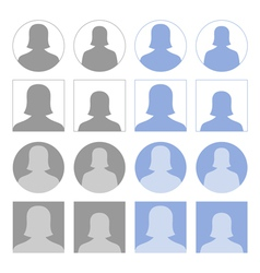 Female profile icons vector image