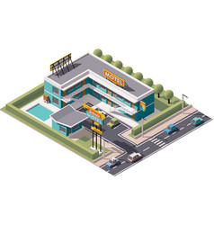 isometric motel vector image