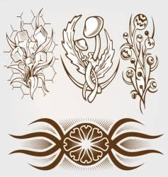 set of tattoo vector image