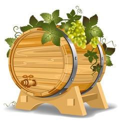 wine barrel vector image