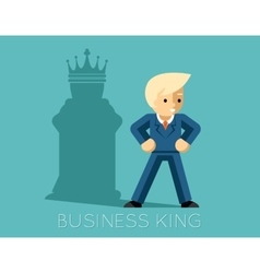 Business king Businessman with shadow as chess vector image