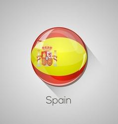 European flags set - Spain vector image vector image