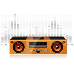 orange boombox with signal spectrum detailed vector image vector image