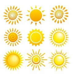 Suns set vector
