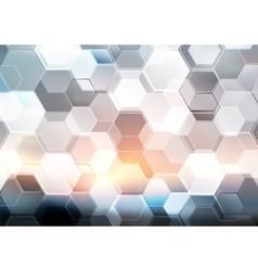 Abstract modern tech hexagon texture design vector
