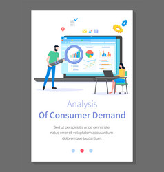analysis consumer demand site template woman vector image