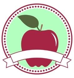 Apple label vector