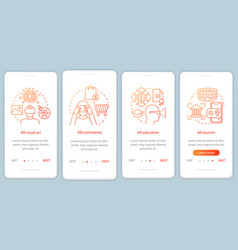 Ar technology onboarding mobile app page screen vector